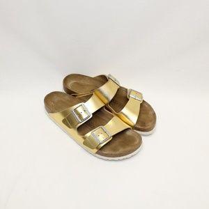 Birkenstock Gold Classic Double Buckle Sandals
